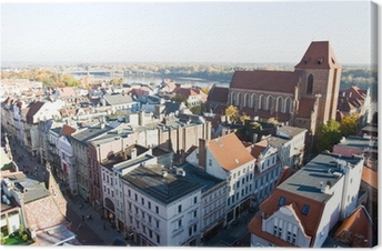 Panorama of the city Torun in Poland Canvas Print