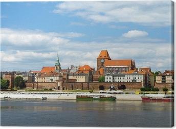 Panorama of Torun, Poland. Canvas Print