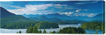 Panoramic view of Tofino, Vancouver Island, Canada Canvas Print