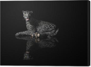 pantera nera Canvas Print