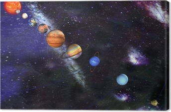 Parade of the planets Canvas Print