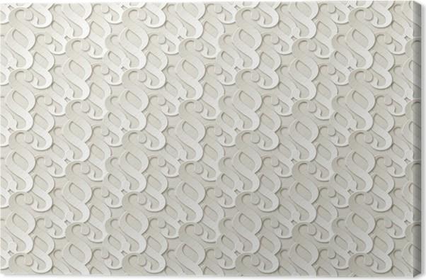 paragraf papier muster hintergrund weiss canvas print - Bastelpapier Muster