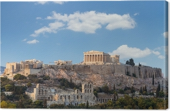 Parthenon, Akropolis - Athens, Greece Canvas Print