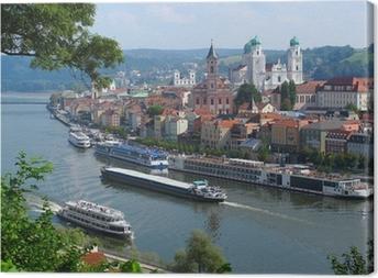 Passau, City of Three Rivers, Bavaria, Germany. Canvas Print