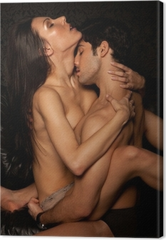 Passionate Erotic Sex Canvas Print