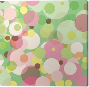 Pastel Dots Canvas Print