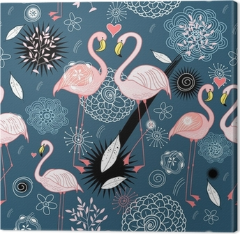 pattern of love flamingos Canvas Print