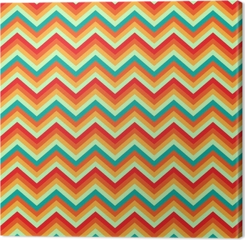 Pattern Retro Zig Zag Chevron Vector Canvas Print