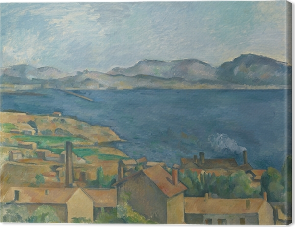Paul Cézanne - L'Estaque, View from the Bay of Marseilles Canvas Print - Reproductions