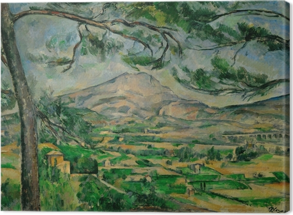 Paul Cézanne - Sainte-Victoire Mountain Canvas Print - Reproductions