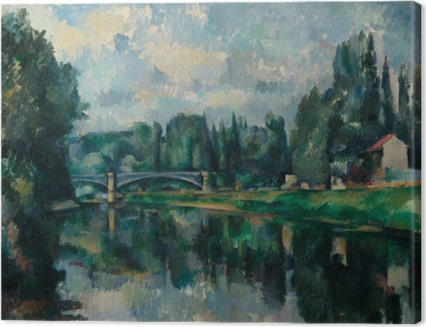 Paul Cézanne - The Banks of the Marne at Creteil Canvas Print - Reproductions
