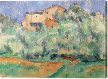 Paul Cézanne - The House at Bellevue Canvas Print