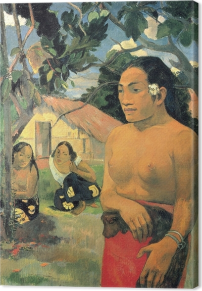 Paul Gauguin - E haere oe i hia? (Where are you going?) Canvas Print - Reproductions