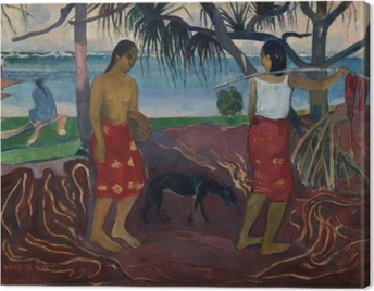 Paul Gauguin - I raro te oviri (Under the Pandanus) Canvas Print