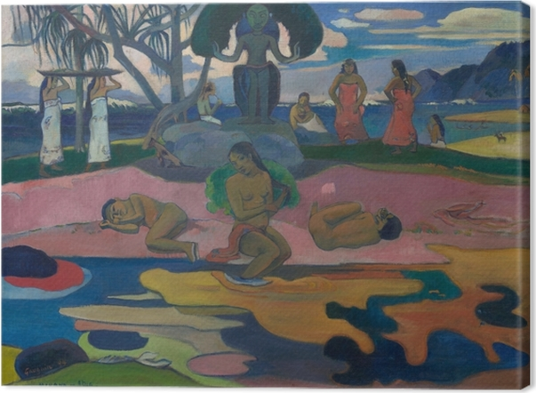 Paul Gauguin - Mahana No Atua (Day of teh God) Canvas Print - Reproductions