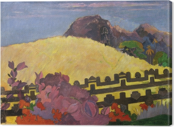 Paul Gauguin - Parahi Te Marae (The Sacred Mountain) Canvas Print - Reproductions