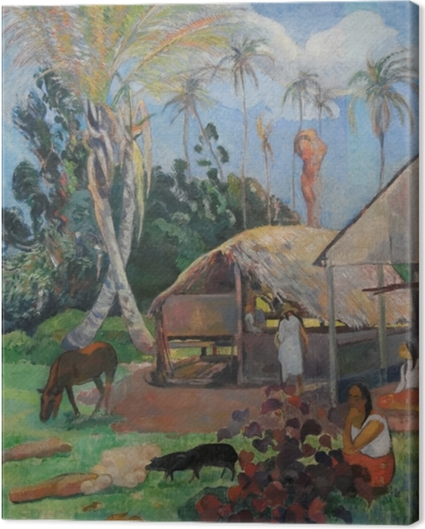 Paul Gauguin - The Black Pigs Canvas Print - Reproductions