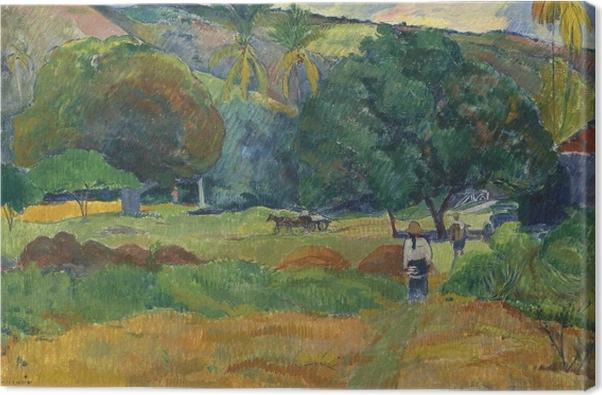 Paul Gauguin - The Valley Canvas Print - Reproductions