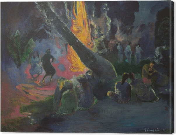 Paul Gauguin - Upa Upa (The Fire dance) Canvas Print - Reproductions