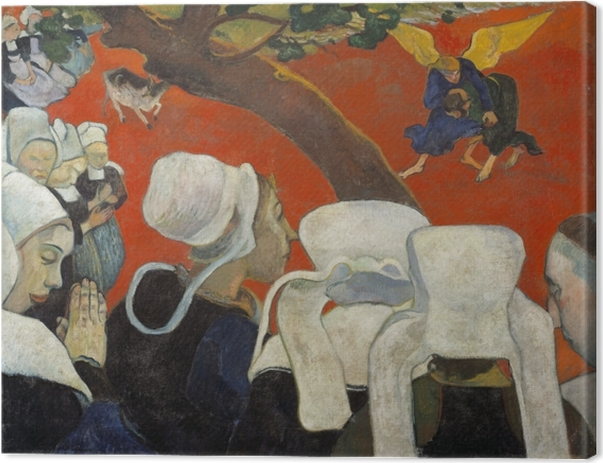 Paul Gauguin - Vision After the Sermon Canvas Print - Reproductions