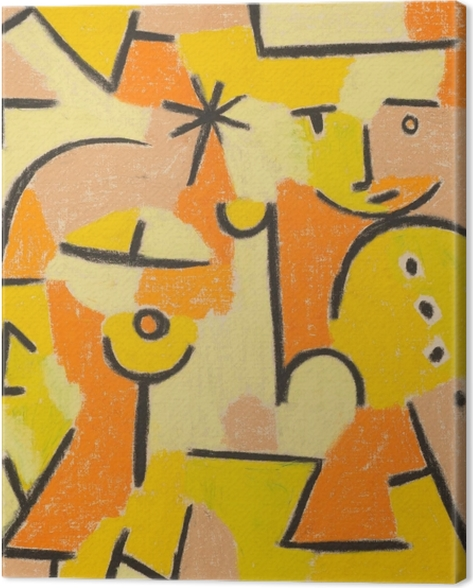 Paul Klee - Figure in Yellow Canvas Print - Reproductions
