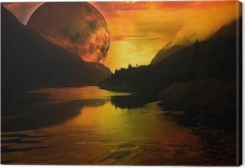 paysage fantastique Canvas Print