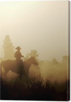 Peaceful Cowboy Canvas Print