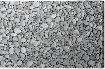 pebbles background Canvas Print