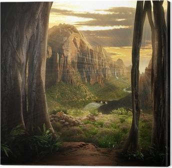 Phantasy Landscape Canvas Print