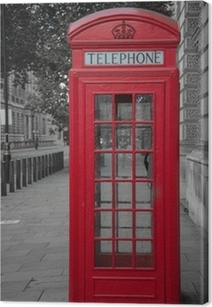 phone booth in london Canvas Print