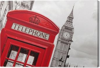 Phone booth. London, UK Canvas Print