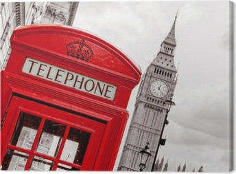 Phone booth. London, UK Canvas Print