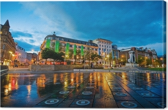 piccadilly square manchester Canvas Print