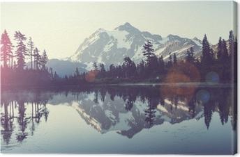Picturesque lake Canvas Print