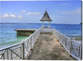 Pier at Montego Bay, Jamaica, Carribean Canvas Print