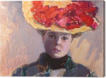 Pierre Bonnard - Girl in Straw Hat Canvas Print