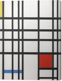 Piet Mondrian - Composition in Yellow, Blue and Red Canvas Print