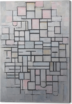 Piet Mondrian - Composition nr 4 Canvas Print