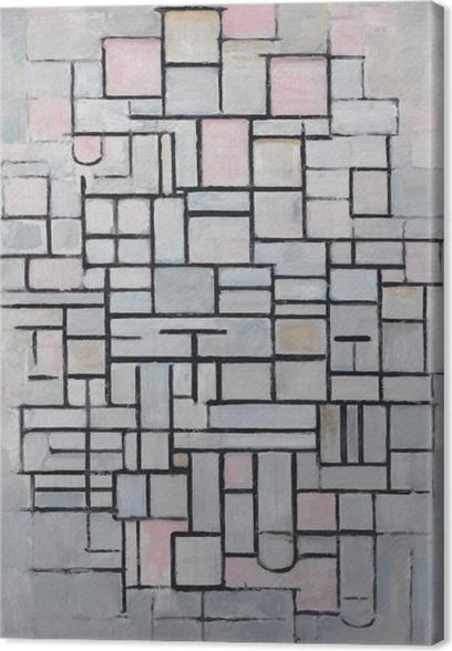 Piet Mondrian - Composition nr 4 Canvas Print - Reproductions