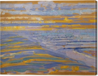 Piet Mondrian - View from the Dunes with Beach and Piers Canvas Print