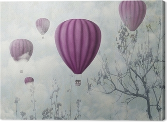 Pink Balloons Canvas Print