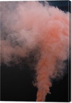 Pink Peach Smoke Bomb Overlays Canvas Print