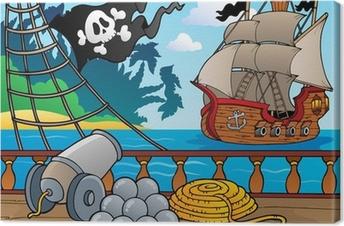 Pirate ship deck theme 4 Canvas Print