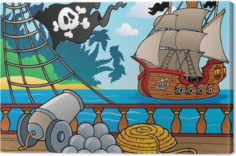 Pirate ship deck theme 4 Canvas Print