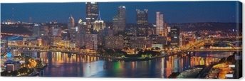 Pittsburgh skyline panorama. Canvas Print