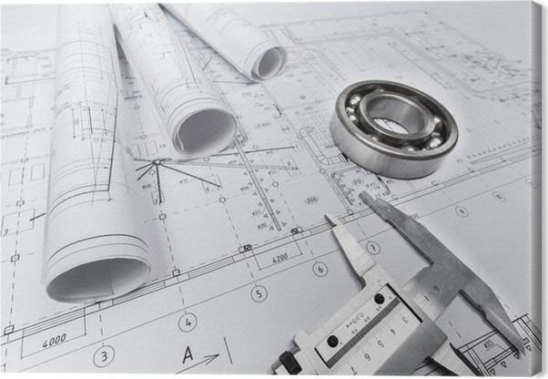 Plan blueprint document canvas print pixers we live to change plan blueprint document canvas print third dimension malvernweather Image collections
