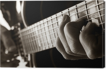 playing jazz guitar Canvas Print