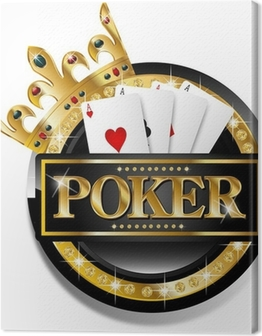 Poker icon Canvas Print