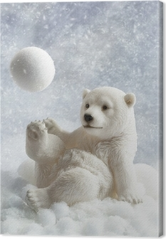 Polar Bear Decoration Canvas Print