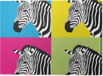 Op art canvas prints pixers pop art zebra canvas print altavistaventures Image collections